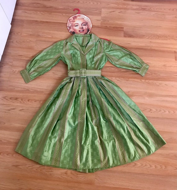 Atomic Green 1950's House Dress