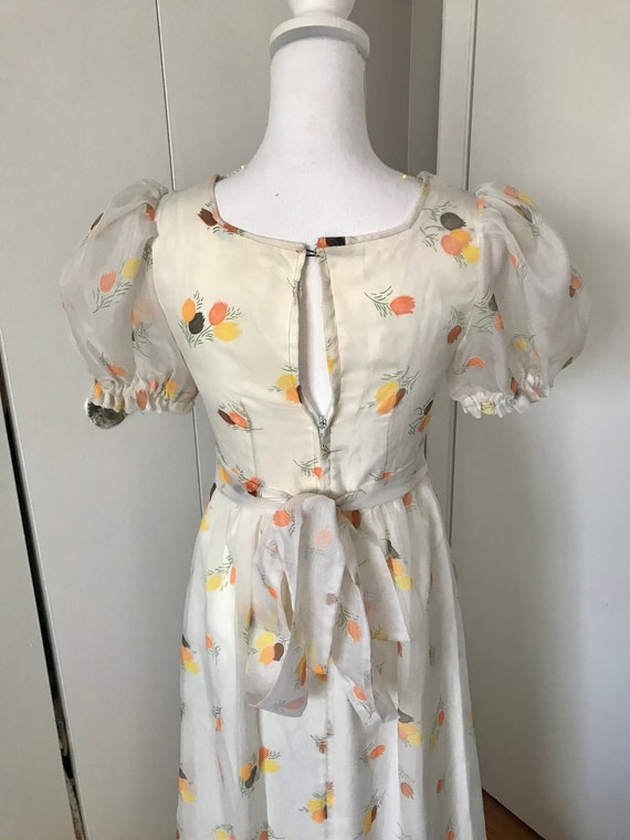 Vintage 1970's Novelty Tulip Print Dress - image 4