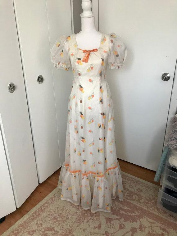 Vintage 1970's Novelty Tulip Print Dress - image 2