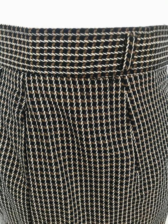 Vintage 1980's Christian Dior Plaid Pencil Skirt - image 4