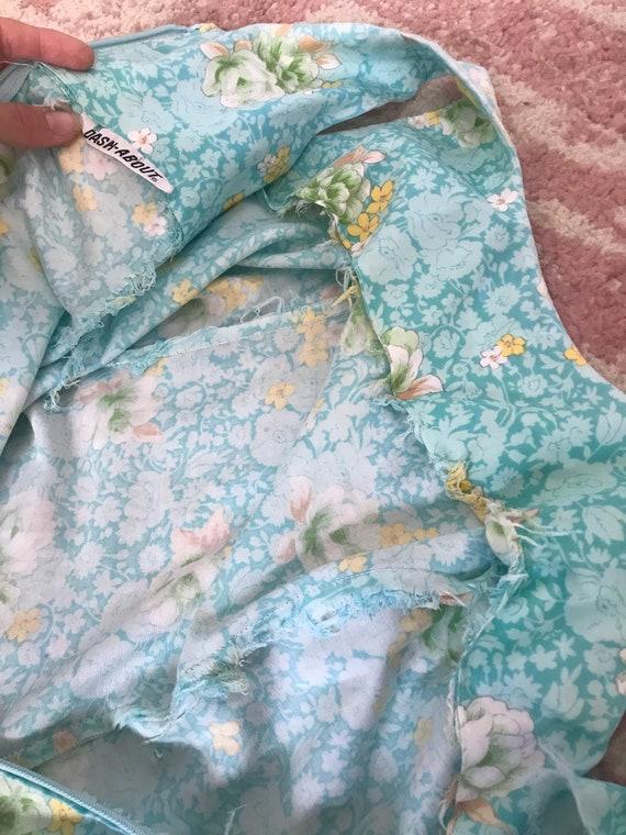 Vintage 1960's/1970's Floral Mini Dress - image 5