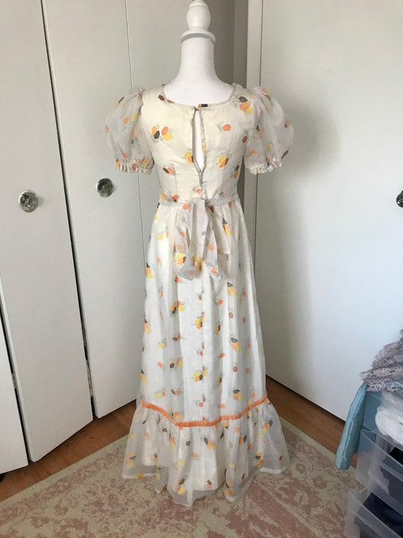 Vintage 1970's Novelty Tulip Print Dress - image 3