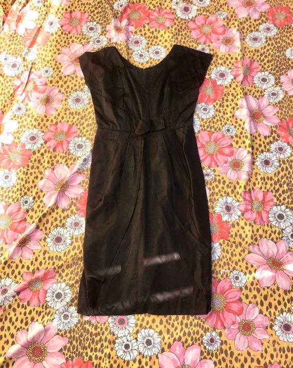 Volup 1950's Black Satin Dress