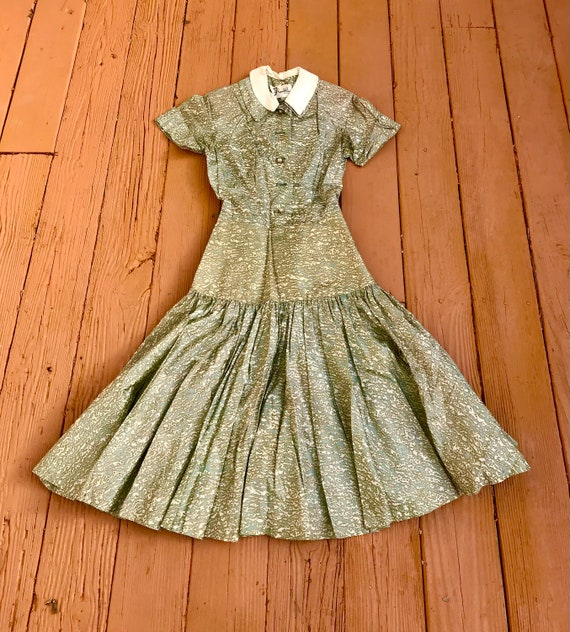 Amazing Wounded 1930's/1940's Dress