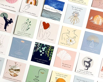 Daily Affirmation Cards for Women - 52 Positive Affirmations Cards, Daily Affirmations for Women, Meditation Cards, Self Care Cards