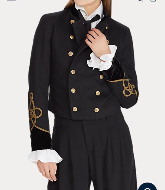 Ralph Lauren Military USA Army Velvet Officer Band