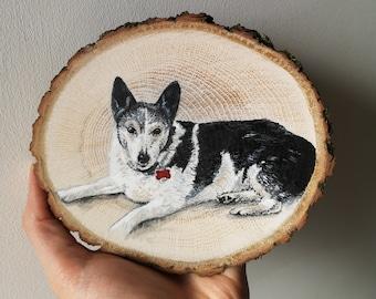 Pet Portrait Wood Slice