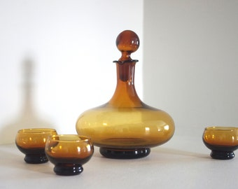 Dark amber decanter & original flame