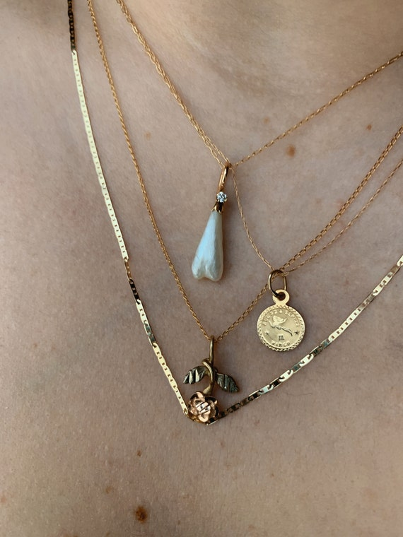 Estate 14K Gold Pendants with Optional Chains