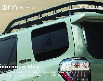 Nicaragua Flag PrezisionCut® Toyota 4Runner Vinyl Window Decal – No Trimming Required