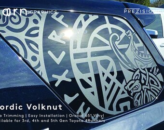 Nordic Volknut PrezisionCut® Toyota 4Runner Vinyl Window Decal – No Trimming Required