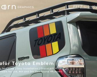 Color Toyota Emblem PrezisionCut® Toyota 4Runner Vinyl Window Decal – No Trimming Required