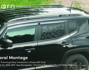 Floral Montage TrimFit® 2015–2021 Jeep Renegade Vinyl Window Decal