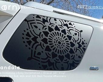 Mandala PrezisionCut® Toyota 4Runner Vinyl Window Decal – No Trimming Required