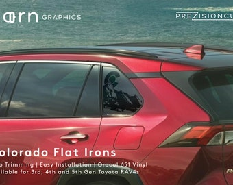 Colorado Flat Irons PrezisionCut® Toyota RAV4 Vinyl Window Decal – No Trimming Required
