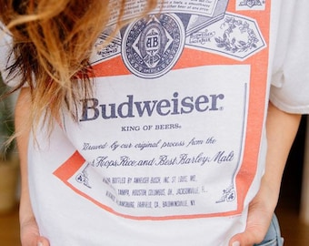 VINTAGE BUDWEISER AD Printed Patch Hat Sew On T-shirt Jacket Backpack