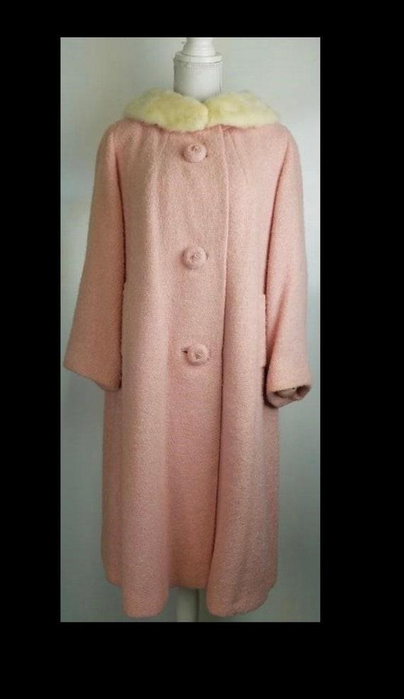 Vintage Pink Swing Coat