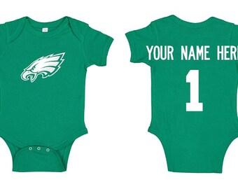 Eagles Love  Baby Glitter Onesie \u00ae Eagles Onesie Newborn Gift