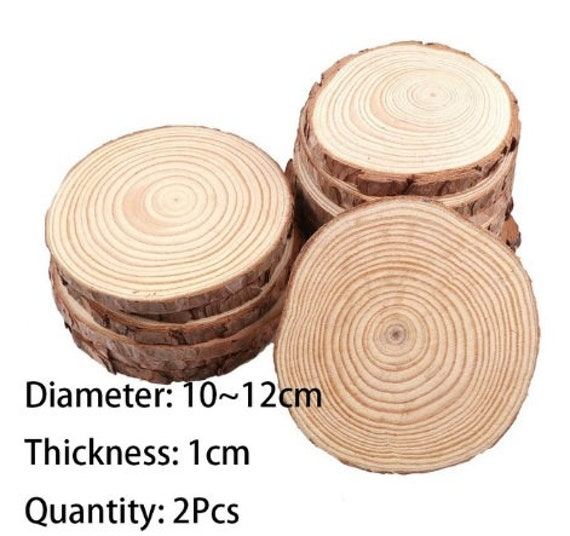 3 12cm Thick 1 Pack Natural Pine Round Unfinished Wood Slices Etsy