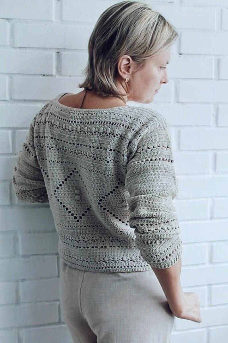 Crochet Summer Sweater Pattern PDF DIGITAL Download