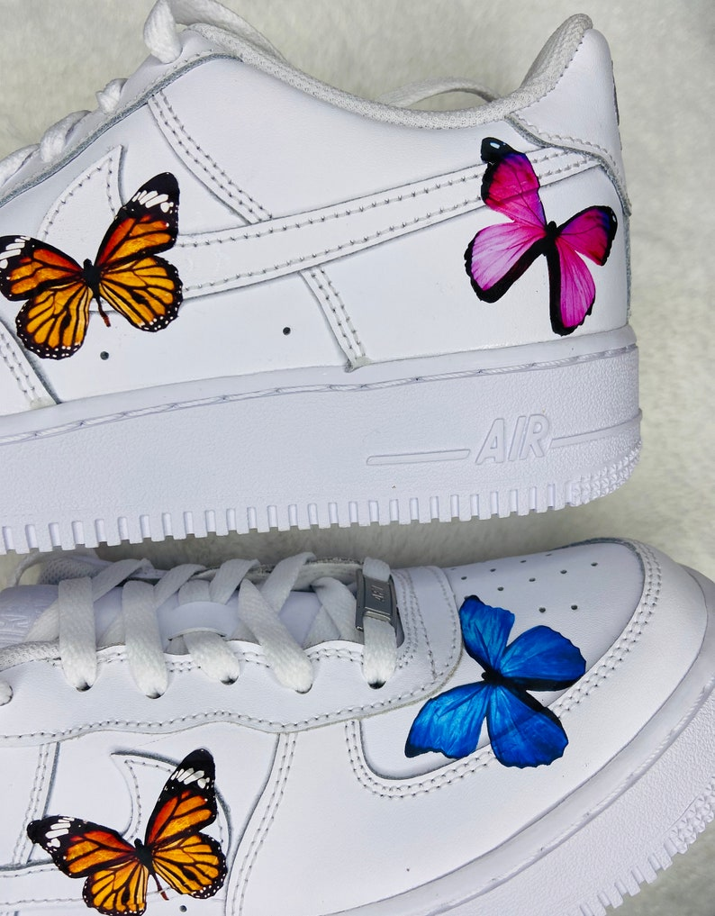 air force 1 donna con farfalle