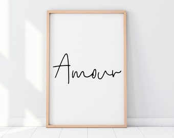 Amour Word Charm with Loop 4