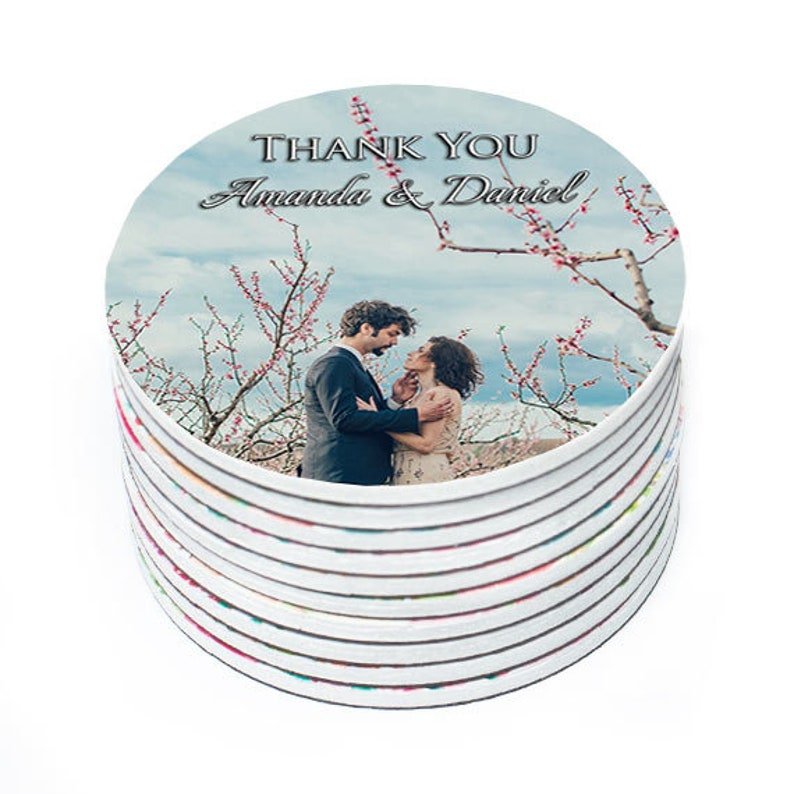 Thank you magnets Wedding magnets Round magnets with photo