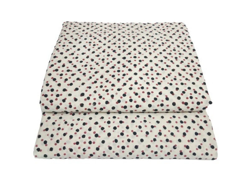 by the yard  dots  print fabric indian hand block printed cotton  by the yard fabric # SWGFB 291