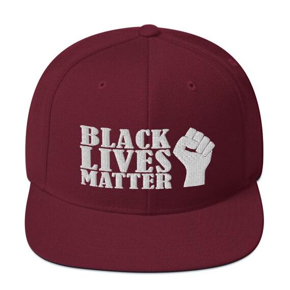 Snapback Hat Black Lives Matter Large Fist R