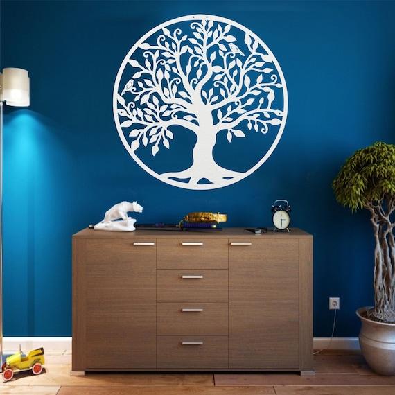 Metal Family Tree Decor Metal Wall Art Tree Of Life Etsy