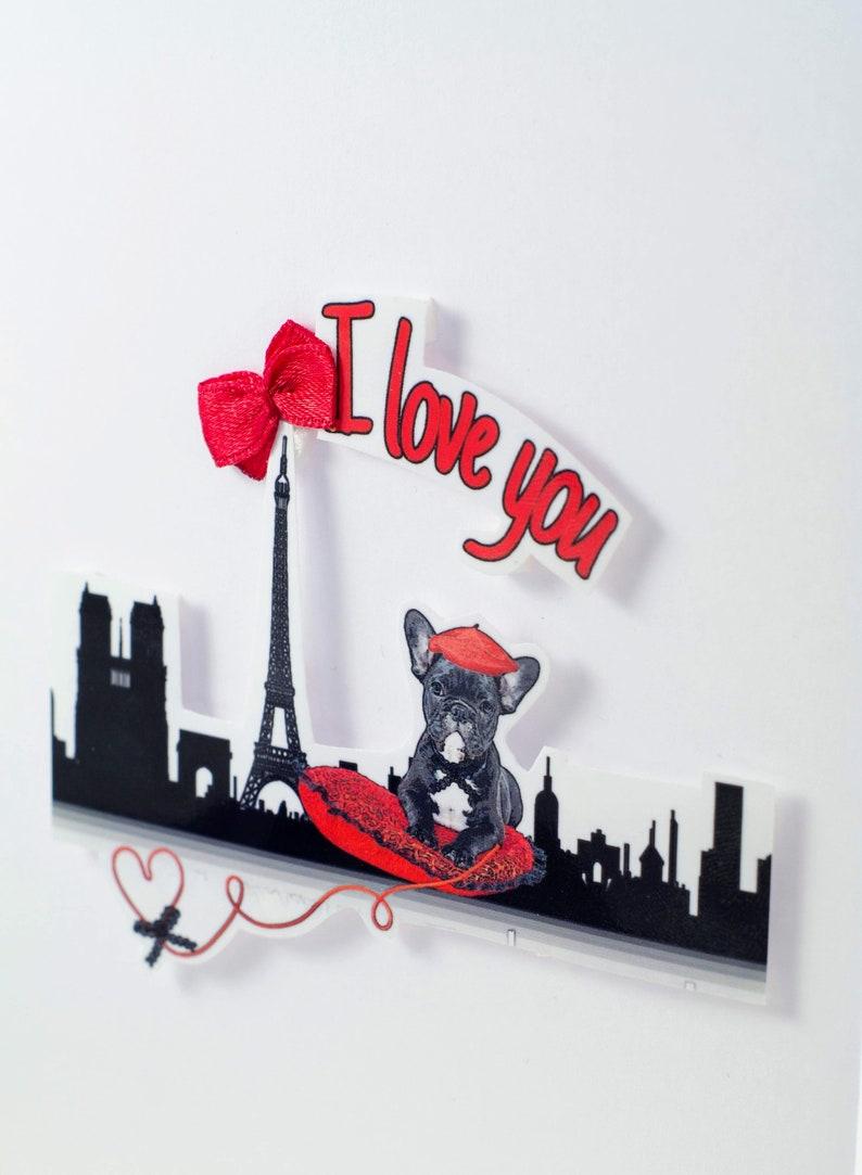 Ich liebe dich 3d gedruckt französisch Bulldogge Paris