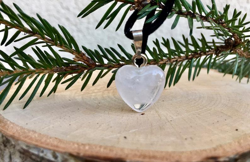 ROSE QUARTZ Heart Pendant Crystal Heart Necklace Rose Quartz Crystal Heart Gemstone Heart Pendant Rose Quartz Necklace Heart Necklace