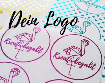 Foliled Logo Stickers 40 & 30 mm Metallic Foil A4 Personalized Premium Business Sticker Stickers Hot foil Smallbusiness