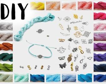 DIY craft set large selection! Creative Set Macramé Bracelet + Connectors Tie CreativeLy Gifted Friendship Ribbons Bachelorette Party JGA