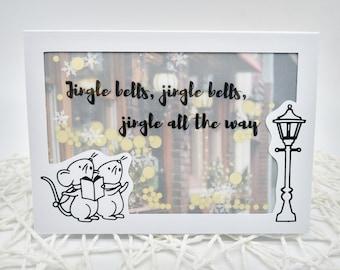 "Animal Christmas Card ""Jingle bells"" Confetti Card with Envelope Shaking Card Confetti Christmas Creative Gifted"
