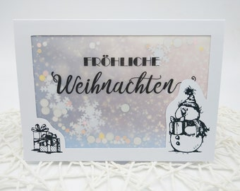 "Animal Christmas Card ""Merry Christmas"" Confetti Card with Envelope Shaking Card Confetti Christmas Creative Gifted"