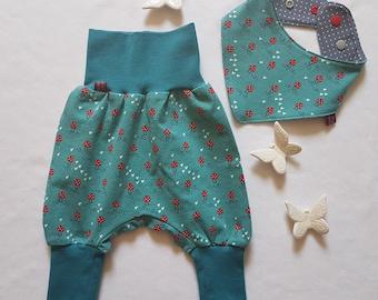 56 Pumphose Set Baby Kind von 50 68 74 Pilze 80 92 Atelier MiaMia 86 Eulen Designer Babyhose Set Limitiert !! 62