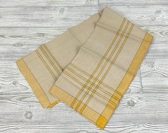 Vintage Muslin Tablecloth; Vintage Striped Tablecloth; Vintage Square Tablecloth (MAE)