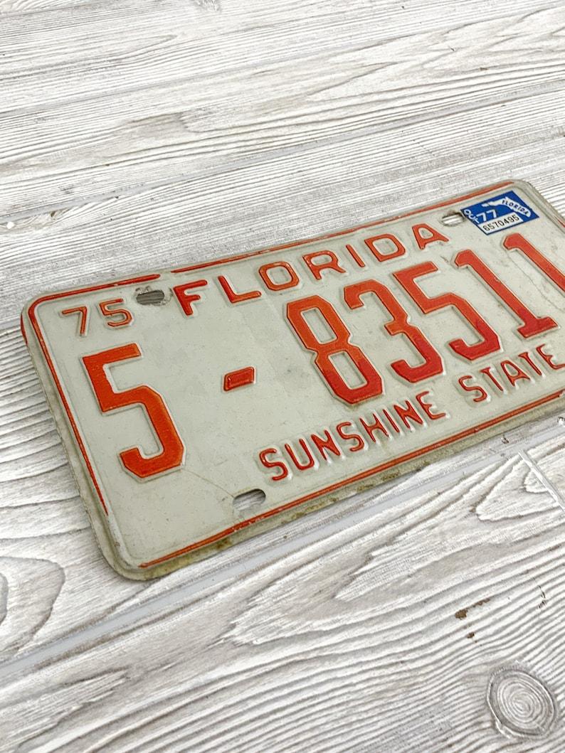 SMH Vintage 1975 Florida License Plate; Sunshine State