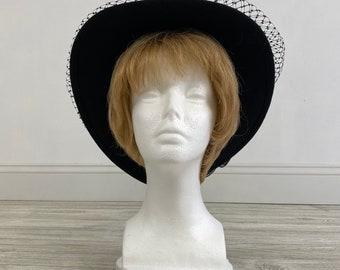 Vintage Black Formal 100% Wool Betmar Hat (BMH)