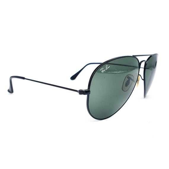 RayBan 3025 black aviator sunglasses made in Ital… - image 4