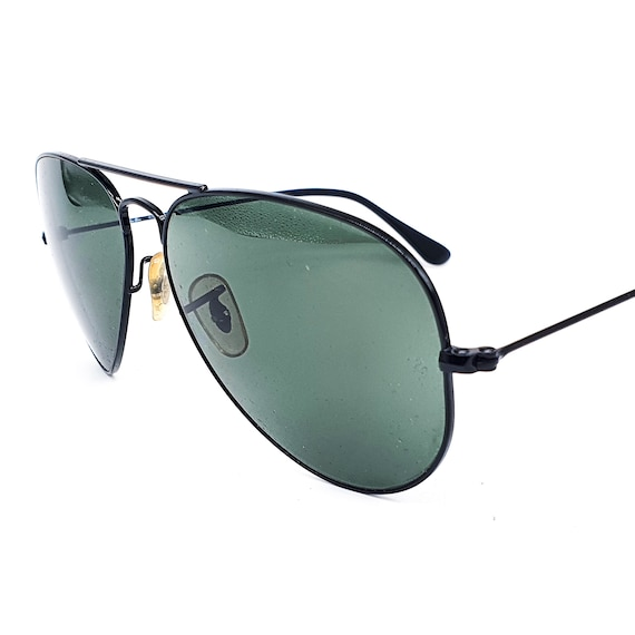 RayBan 3025 black aviator sunglasses made in Ital… - image 6