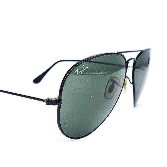 RayBan 3025 black aviator sunglasses made in Ital… - image 5