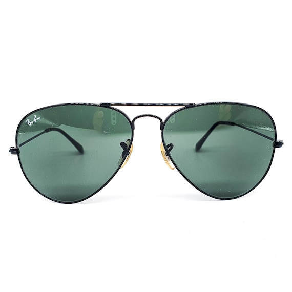 RayBan 3025 black aviator sunglasses made in Ital… - image 1