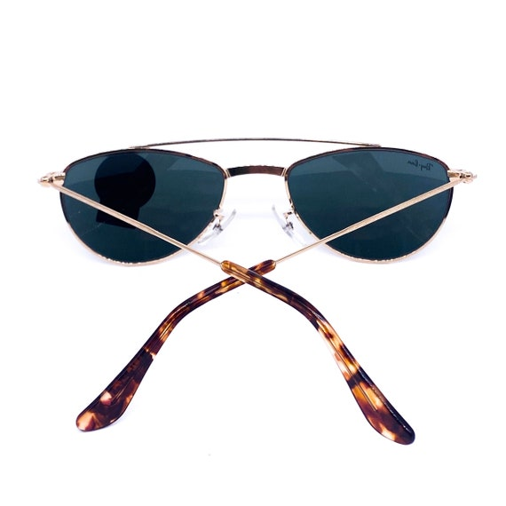 RayBan W1758 oval gold aviator sunglasses made in… - image 7