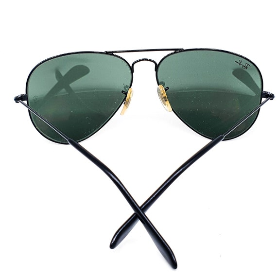 RayBan 3025 black aviator sunglasses made in Ital… - image 7