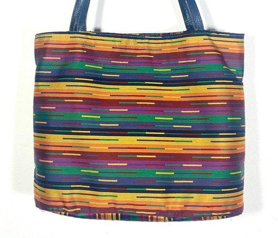 Missoni 80s colorful iconic stripes shoulder cloth