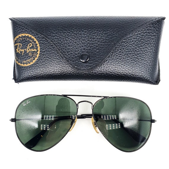 RayBan 3025 black aviator sunglasses made in Ital… - image 2