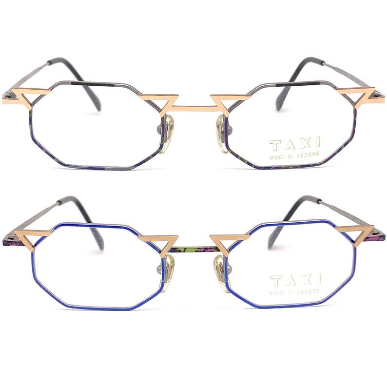 Taxi by casanova oval avant garde eyeglasses frames made in italy 1980s nos