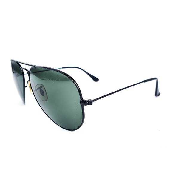RayBan 3025 black aviator sunglasses made in Ital… - image 3